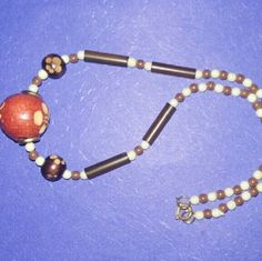 Necklace**** DONATING WEEKEND**** Very nice rustic wood beaded necklace Jewelry Necklaces