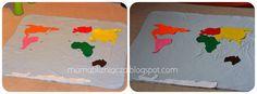 Jeśli chcemy przedstawić dziecku kontynenty najlepiej zacząć od globusa a następnie przejść do puzzlowej mapy świata lub/i półkul. Następnie...