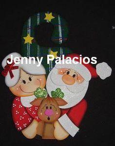 Christmas Holidays, Christmas Crafts, Christmas Decorations, Christmas Ornaments, Holiday Decor, Xmas Drawing, Santa Stocking, Country Paintings, Felt Ornaments