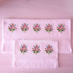 Discover thousands of images about İnstagram / madebyigneiplik Crossstitch floral towel Cross Stitch Rose, Cross Stitch Flowers, Cross Stitching, Cross Stitch Embroidery, Cross Stitch Designs, Cross Stitch Patterns, Pillowcase Pattern, Flower Embroidery Designs, Bargello
