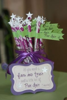 Fairy Wands with Pixy Stix - Bring the sparkle to any birthday party or kids activity with the most magical Fairy Party and Craft Ideas!
