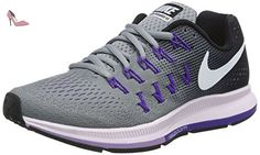 best loved 63171 14955 Nike Wmns Air Zoom Pegasus 33, chaussure de sport femme, Gris (Stealth