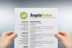 Round bold initials resume template - Resumes - 1