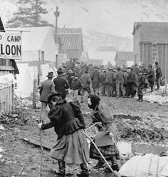 klondike gold rush | Women in Klondike Gold Rush Boomtown - IH162341 - Rights Managed ...