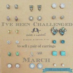 Buy 3 pairs, Get 1 pair FREE from me! www.chloeandisabel.com/boutique/iselleandrade