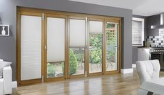 BIFold door with TS Pleated Blind