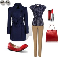 """""""Red and blue"""" by melissa-delp on Polyvore"""