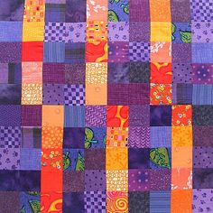 Controlled Chaos quilt block #4 - a scrappy quilt-along with Shiny Happy World