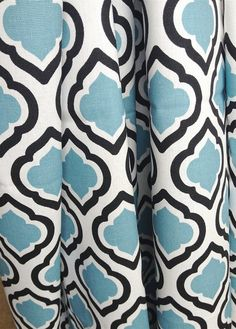 Quatrefoil Curtain Panels 25 Or 50 Inch By Thebluebirdshop