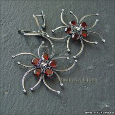 wirework earrings by elena strukova - another page where i could pin every earrings!  -mk
