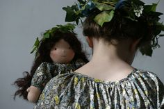 Lovely matching blouses for dolly and girl! On a beautiful French blog...
