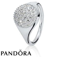 Pandora Gold White Pave Ring