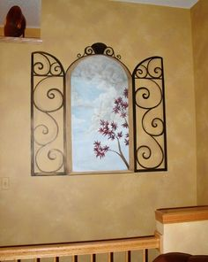 Fresh Paint | Trompe l'oiel wrought iron look around my niches would be AWESOME!