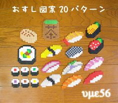 Sushi set perler beads