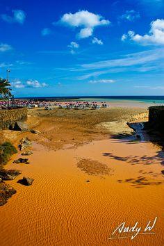 Desembocadura de un barranco en la Playa de Las Cucharas, Costa Teguise - Lanzarote