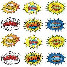 superhero comic book words signs - http://www.amazon.com/Large-Cardboard-Superhero-Word-Cutouts/dp/B00XZV62QW/ref=pd_sim_21_2?ie=UTF8