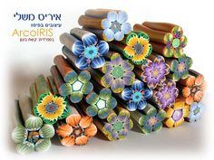 New Millefiori Flower Shaped Canes by Iris Mishly, via Flickr