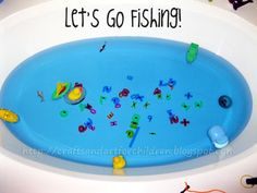 Magnet Fishing Game for Kids - Bathtub Fun Fishing Games For Kids, Water Games For Kids, Activities For Boys, Learning Activities, Kid Games, Magnet Fishing, Fishing Tips, Make Your Own Game, Preschool At Home