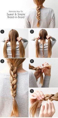 Haz un trenza-ception. | 17 Peinados sencillos para dominar tu cabello
