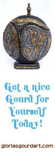 Such a great art piece by Gloria's Gourd Art