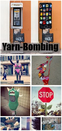 Yarn-bombing is guaranteed to make any day better.