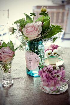Vintage table flowers