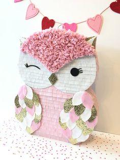 Owl Pinata Mini Pinata Owl birthday Baby by withglitternconfetti