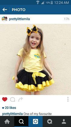 Wiggles Party, Wiggles Birthday, 4th Birthday Parties, Baby Birthday, Birthday Ideas, Emma Wiggle Costume, Tutu Costumes, Beautiful Baby Girl, Kid Styles