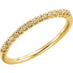 14kt Yellow 1/6 CTW Yellow Diamond Stackable Ring #gold #stackable locate a jeweler here: http://www.stuller.com/locateajeweler?searchTerm=locate%20a%20jeweler