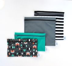 Snack Bags, Reusable Bags, Etsy, Snacks, Bags