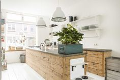 Cool Swedish and Industrial Kitchen