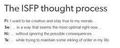 exactly... isfp thought process. Yes