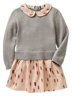 What a fabulous and simple idea I never thought of! Pairing a dress with a sweater. Duh...