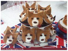 A stack of Corgi cupcakes!