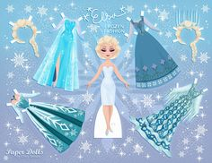 For Your Princesses…Free Disney inspired paper dolls! This is Elsa, one of many Disney paper dolls designs. Chick for more Frozen patterns. Frozen Disney, Elsa Frozen, Disney Frozen Crafts, Frozen Castle, Frozen Paper Dolls, Disney Paper Dolls, Paper Toys, Paper Crafts, Paper Dolls Printable