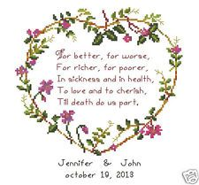 Wedding/Marriage/anniversary/love Counted Cross Stitch Pattern(R)