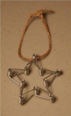 snowflake clothespin craft | Clothes pin springs