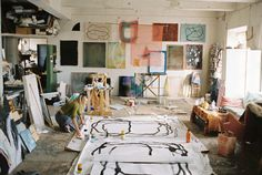 Malin Gabriella Nordin, 2014 Studio visit by photographer Erik Wåhlström Artist Workspace, Painters Studio, Boho Home, Dream Studio, Studio Studio, Creative Studio, Art Studios, Artist At Work, Oeuvre D'art