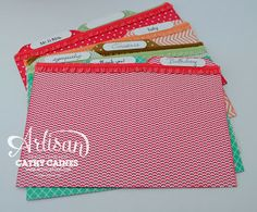 Artisan Wednesday Wow: Index Cards  @Stampin' Up!