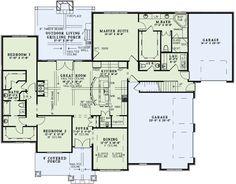 Main Floor Plan LOVE the kitchen