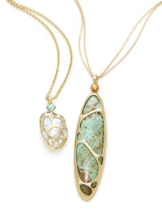 One of a Kind Pearl and Turquoise Necklaces