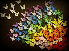 Butterfly-Silhouette Paint Chip Wall Art