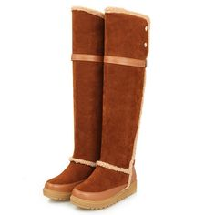 Adorable Flat Knee High Boot - stylishplus.com