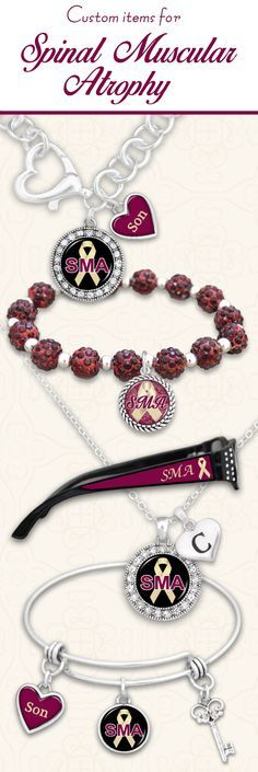 Support Spinal Muscular Atrophy Awareness with custom items - $9.98. Jewelry with custom loved ones and initials, and reading glasses with custom strength // 30% of the net profits from these items is donated to an SMA charity!!! Love it