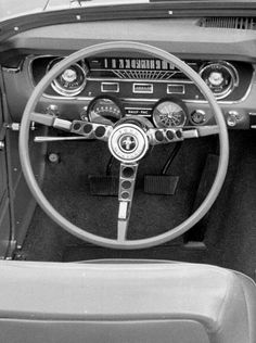 Here are Ford Mustang's steering wheels through the years starting with 1964, the original three-spoker.