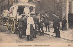 """English Field Hospital"" WW1 postcard"