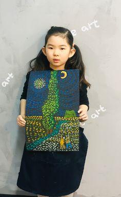 빈 센트 반 고흐[킨더 (초등) 수업 / 시흥시 정왕동 배곧 미술학원 - 창의미술 크리아트 ] : 네이버 블로그 Kids Art Class, Art For Kids, Crafts For Kids, School Art Projects, Art School, Van Gogh Art, Student Drawing, Cartoon Painting, Toddler Art