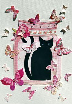 Cat In A Cookie Jar - artwork by Rita Dabrowicz