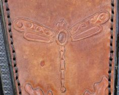 Hand carved and designed tank panel Dragonfly by GCLA SOLD
