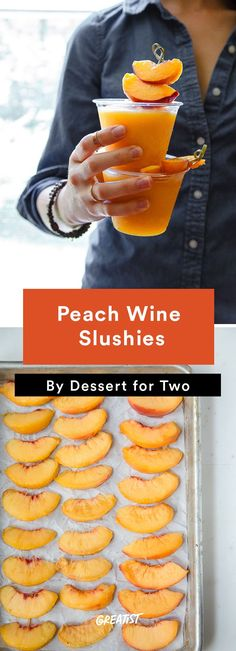 #cocktails #peachwine #peachslush More